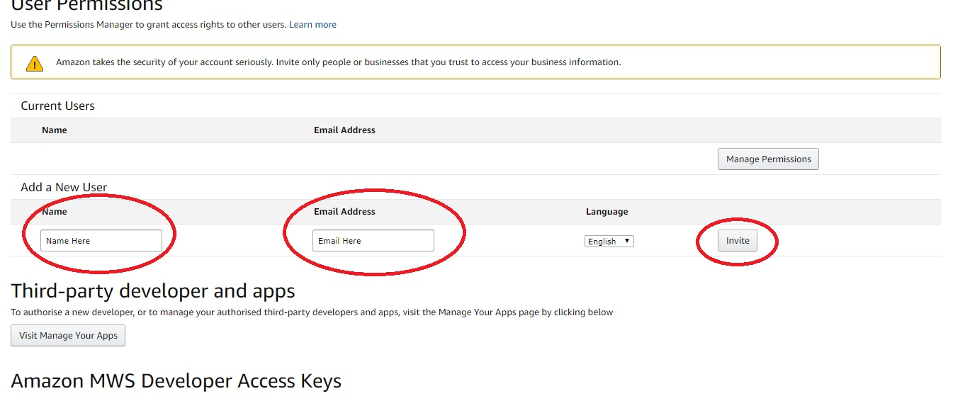 Amazon User Permission