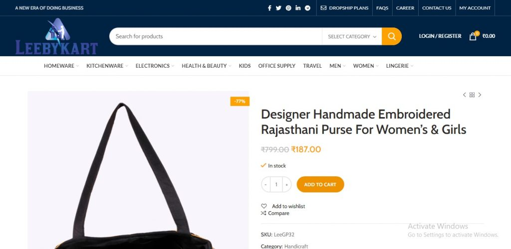 Product add To Cart